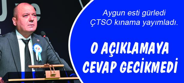 Aygun'dan ÇTSO'un açıklamasına cevap