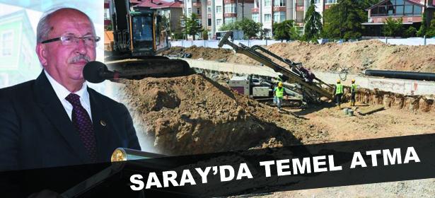 Saray Kültür Merkezi'nin temeli atıldı