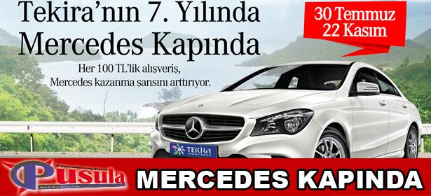 Mercedes kapında !