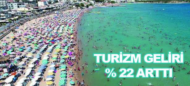 Turizm geliri %22 arttı